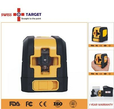 Self levelling cross line laser level