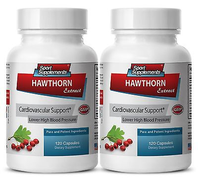 Hawthorn Berry 100 - Hawthorn Leaf Extract 665mg- Reduce Stress Supplements 2B