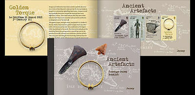 JERSEY 2017 Ancient Artifacts incluiding SEPAC 2017 stamp Stamp Booklet