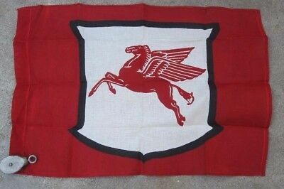 MOBILE GAS STATION PEGASUS FLAG VINTAGE AVERTISING 1960s ?  VERY RARE  CLOTH