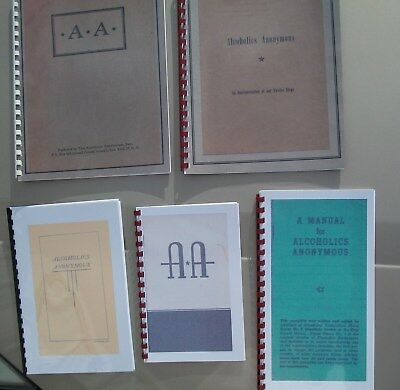 5 Early Alcoholics Anonymous booklet reproductions