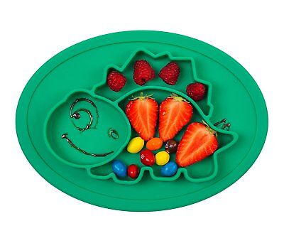 Qshare Dinosaur Mini Mat SIlicone Suction Placemat for Babies/Toddlers