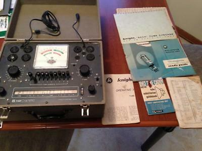 ALLIED RADIO - Knight Vacuum Tube Tester Model 600a TESTED - ALL PAPERWORK