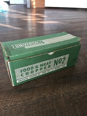 Universal No. 2 Food and Meat Chopper by Union Mfg. CT In Orig Box