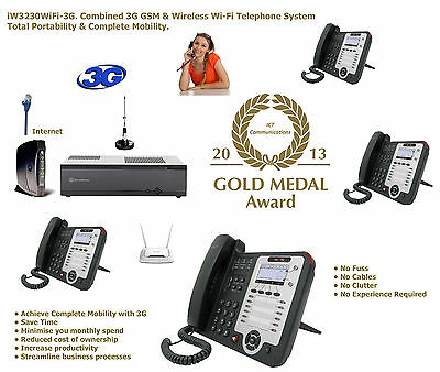 WC8350GSM Portable Cellular Mobile 3G Wi-Fi PABX Telephone System PBX SIP VoIP