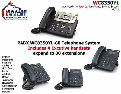 WC8350YL PABX Telephone System KIT YL1, 3 x Phones VoIP SIP PSTN ISDN PBX 2 Year