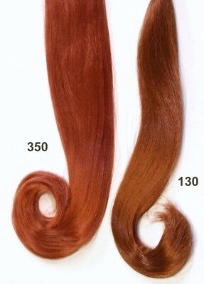 Synthetic Hair for Restoring Dolls - Lt. Auburn Color #130 - Tails are 15 inches