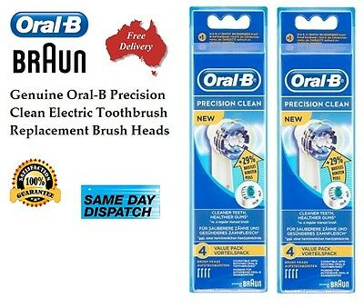 8 Oral B Precision Clean Braun New Oral-B Toothbrush Heads Replacement