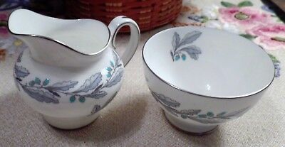 "Minton England Cream & Open Sugar ""Elizabethan Oak"" Bone China Made In England"