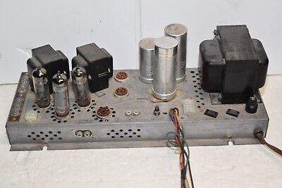 Fisher Stereo Tube Amplifier Model 481A Tube Amp uses EL84/6BQ5 12AX7