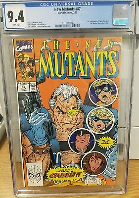 THE NEW MUTANTS #87, CGC 9.4 (Mar 1990, Marvel) WHITE PAGES, KEY ISSUE!!!!!!!!!!