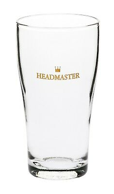 48 x Crown Headmaster Conical 425ml Certified Nucleated Commercial Beer Glasses