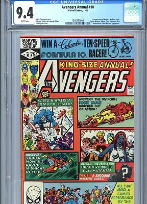 Avengers Annual #10 CGC 9.4 1st App Rogue X-Men Marvel Comics 1981