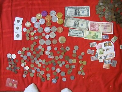 Great Lot Of Coin And Tokens From All Over.