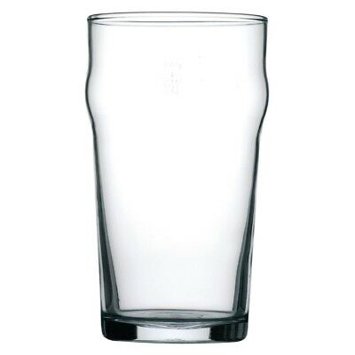 24 x Crown Crowntuff Nonic 570ml Pint Certified Commercial Beer Glasses