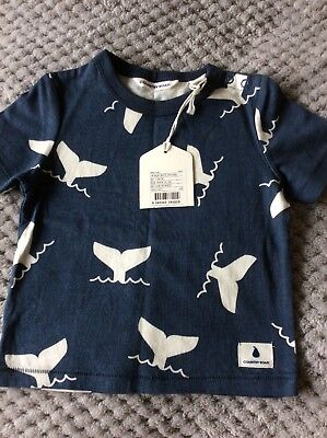 Country Road Whale tshirt, 3-6 months