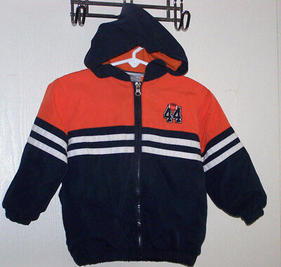 ZONE ONE Boy's Toddler Size 2T Lightweight Hooded Athletic Jacket