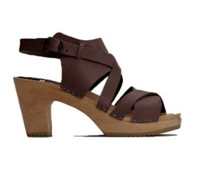 BNWOB Funkis Ulla Super High Clogs Size 36 cappuccino brown