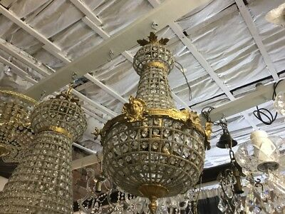 SMALL FRENCH EMPIRE CHANDELIER LIGHT BASKET HALLWAY ENTRANCE ROOM DINING No.49