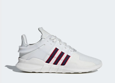 New Men's Adidas Originals Eqt Support Adv Shoes [Bb6778]  White//Navy-Red