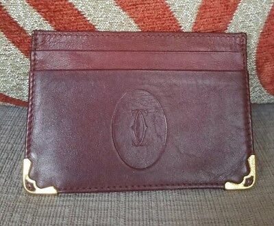 Authentic pre-owed CARTIER  card case Card holder Solid color Leather