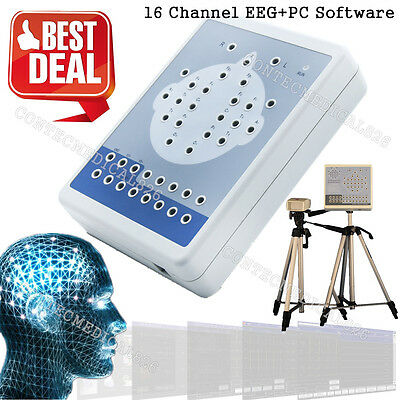 KT88 Digital Brain Electric Activity Mapping 16 Channel EEG Machine,Software,CE