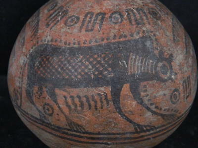 Ancient Large Size Teracotta Painted Pot With Lions Indus Valley 2500 BC  #Ik739