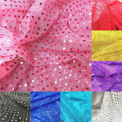 Glitz 3mm Sequin Fabric Shiny Sparkly Dress Material Wedding Party Stage Decor