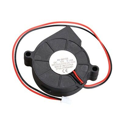 Brushless DC Blower Fan Ultra Quiet Cooling Fan 2 Wires 5015S 12V 0.14A 50x15mm