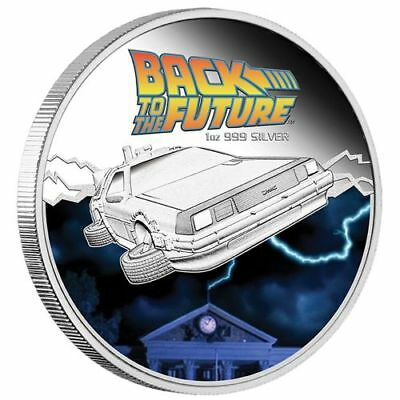 1 oz Back To the Future Finished in 18k White Gold Coin/Medallion
