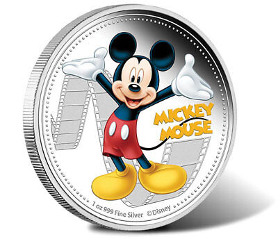 1 oz Mickey Mouse & Friends Finished in 18k White Gold Coin/Medallion