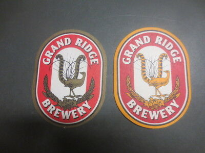 2 different GRAND RIDGE Brewery,Miirboo North,Victoria ,BEER Coasters