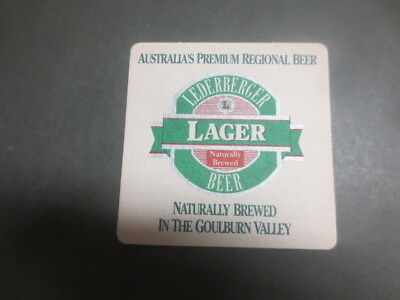 1 only LEDERBERGER Micro BREWERY,Tatura,,Victoria ,BEER Coaster