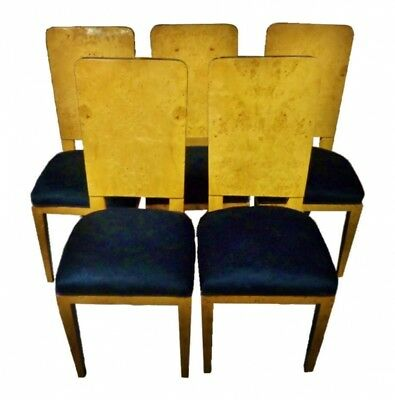 CLASSIC SET 5 Art Deco style French Conference chairs