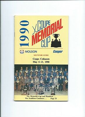 1990 Memorial Cup media guide and programme