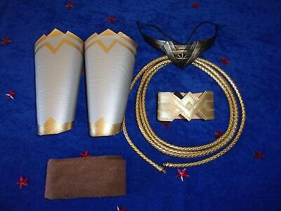 Wonder Woman 5 piece accessories  Tiara, Battle Bracers, Wraps, ArmBand,  Lasso