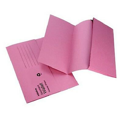 PINK A4 FOOLSCAP CARDBOARD ENVELOPE FILING DOCUMENT WALLET FOLDERS 50 Pack