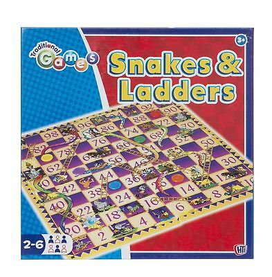 Snakes and Ladders Traditional Childrens & Family Board Game Toy Family Fun Gift