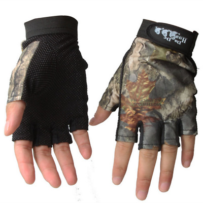 LanLan Fingerless Gloves Outdoor Waterproof Sun Protection Gloves Breathable