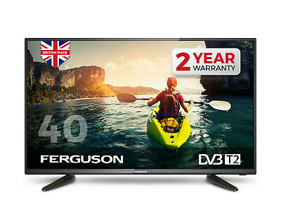 """FERGUSON 40"""" inch LED TV 1080p FULL HD WITH FREEVIEW HD 3 HDMI & USB BRAND NEW"""