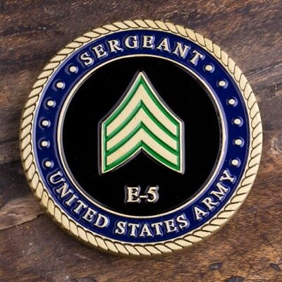 US Army Sergeant E5 Challenge Coin