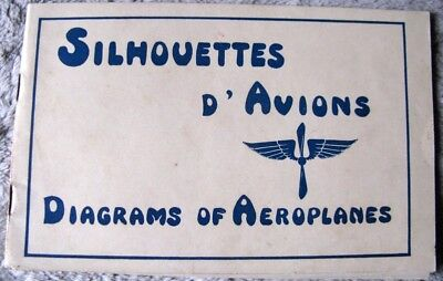 Silhouettes D'avion Diagrams Aeroplanes Wwi Aviation Guerre