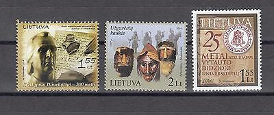 Lietuva Litauen 2014  MNH** Mi.1149,1153,1154 Lot Single stamps