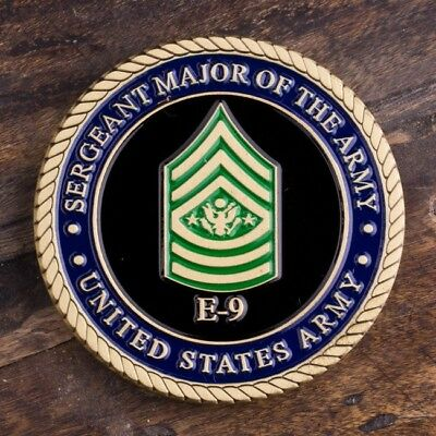 US Army Sergeant Major of the Army E9 Challenge Coin