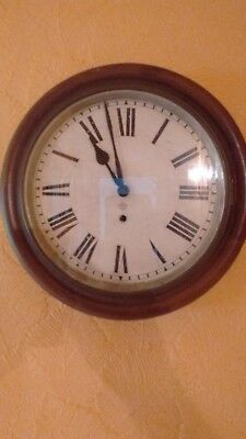 American Ansonia Wall Clock.Antique. Wooden Cased.