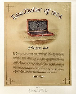The Dollar of 1804 James V. Dexter Silver Dollar Limited Edition Lithograph