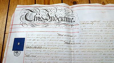 Antique Indenture: 1857 Liscard Chester Liverpool -  Vellum Deed Parchment