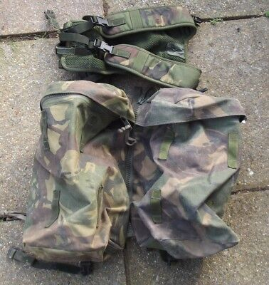 British Army Issued Rucksack Side Pouches X 2, Plus Carrying Yoke