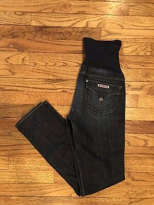 HUDSON Maternity Jeans Womens PEA IN THE POD Skinny Over Belly