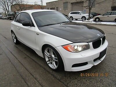 2012 BMW 1-Series  2012 bmw 325I White Carbon Fiber Hood - Deck Lid - Mirrors